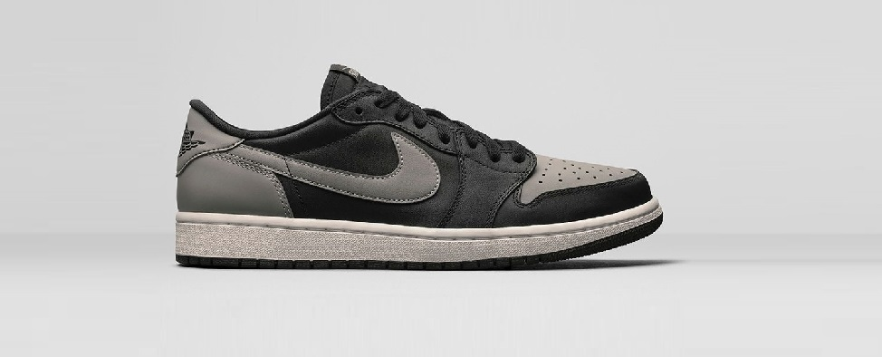 Jordan 1 low black grey